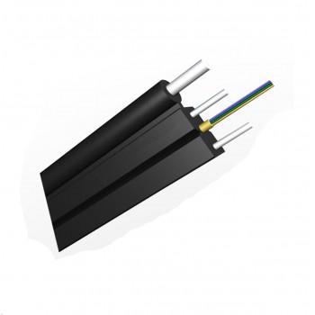 Оптический дроп-кабель FTTHS2-2, 2 волокна G.652, LSZH, выносная проволока
