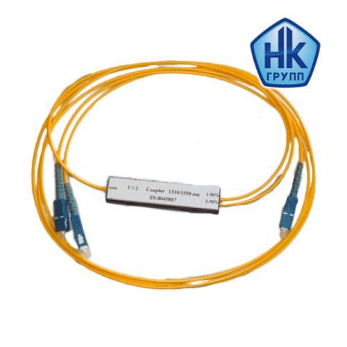 1х2, 3,0 мм, Оптический планарный PLC разветвитель (сплитер), SC/APC