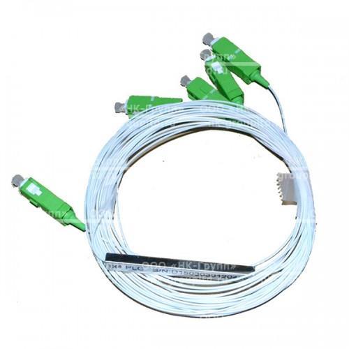 1х4, 3,0мм, Оптический планарный PLC разветвитель (сплитер) SC/APC