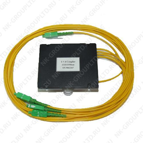 Оптический сплавной разветвитель (сплитер) 1х3 с разъемами SC/APC