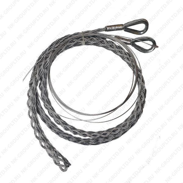 Разъемный (проходной) кабельный чулок, ⌀65-80мм, L=1500мм, 2 петли 100кН