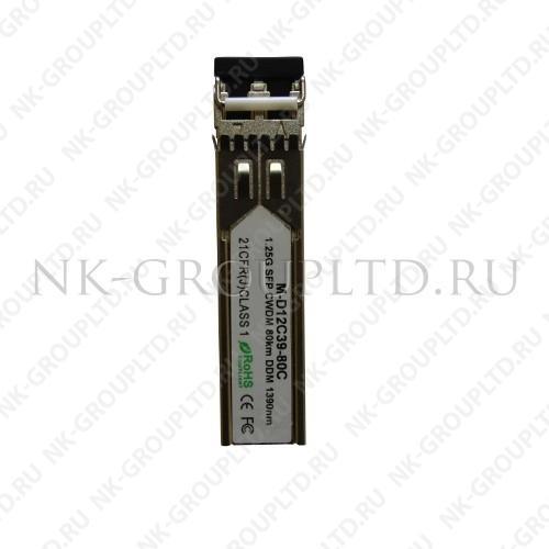 Модуль оптический двухволоконный SFP CWDM, 1430нм, оптический бюджет 24dB, 80км