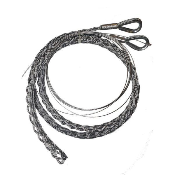 Разъемный (проходной) кабельный чулок, ⌀50-65мм, L=1500мм, 2 петли 80кН