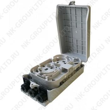 Оптическая кросс-муфта GJS-X08, настенный сплиттерный бокс FTTH до 10 портов SC/LC-d (аналог GJS-X30, FTTH-FDB-08E)