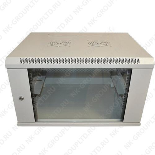 """Шкаф настенный 19"""" 9U (600*600) дверь стекло"""
